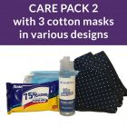 Care pack 2 - ppe cotton masks