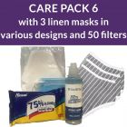 PPe care pack 6 - linen masks
