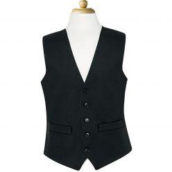 Black Herringbone Waistcoat
