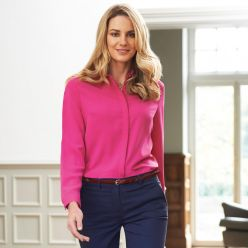 Firenze Long Sleeve Crepe Blouse