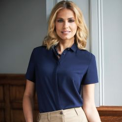 Venezia Short Sleeve Crepe Blouse