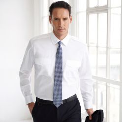 Hermes Long Sleeve Men's Pilot Shirt