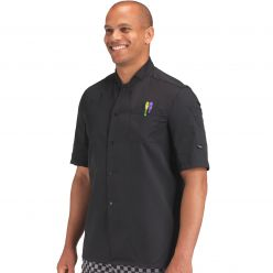 Dennys Chef's Short Sleeve Shirt With Press Studs CLEARANCE