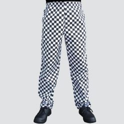 Dennys unisex check chefs trousers