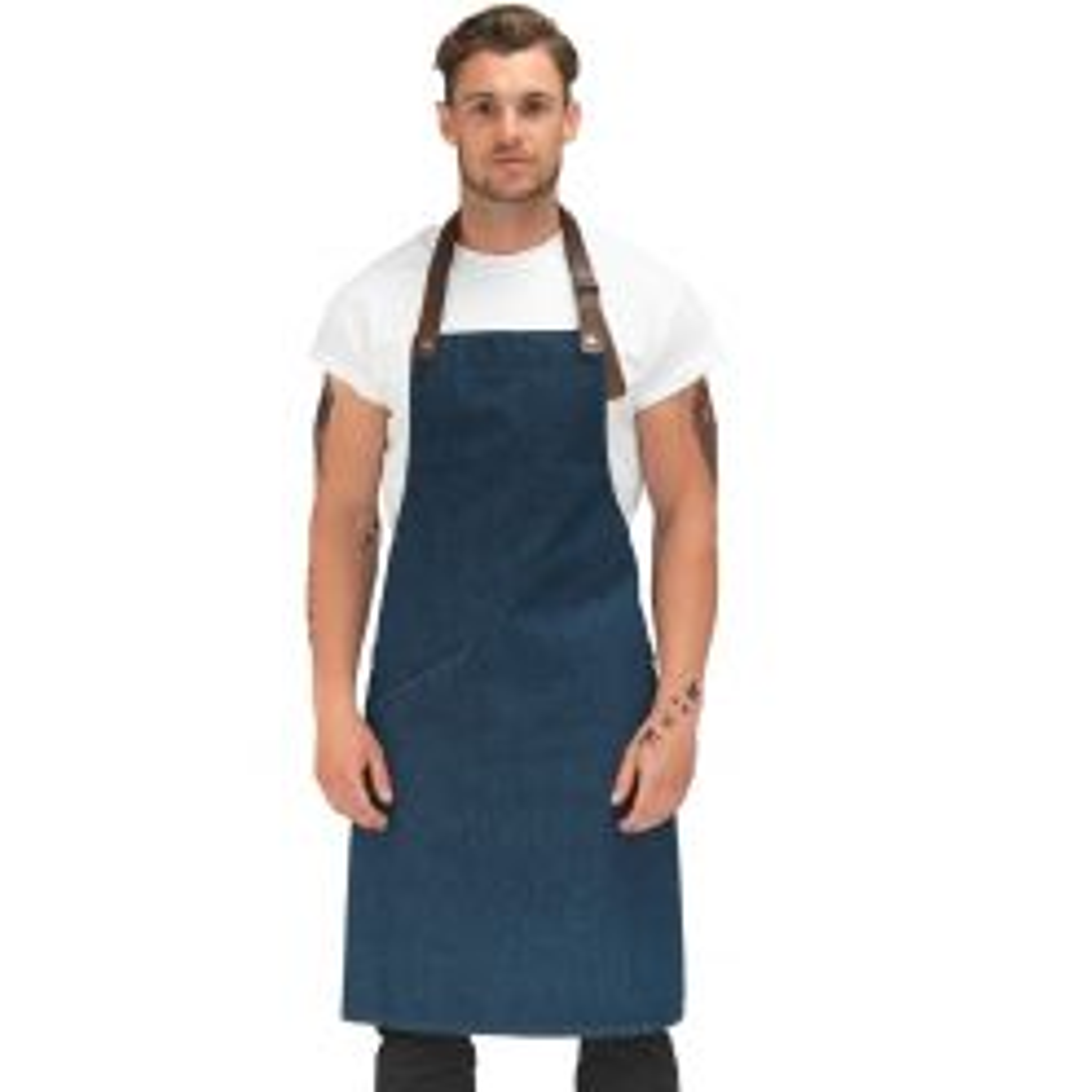 DE110 denim -  Le Chef prep denim bib apron