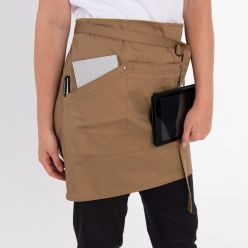 DE115 Khaki waist apron side view