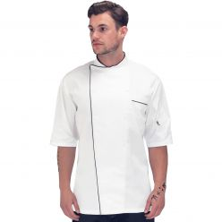Le Chef Executive Short Sleeve Jacket With Piping
