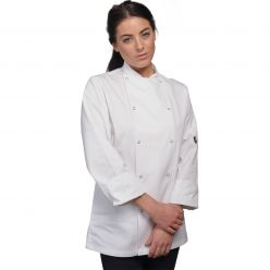 Le Chef white Executive Jacket with Press Studs CLEARANCE