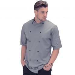 Le Chef Original Short Sleeve Black or Grey Executive Jacket