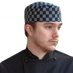 Dennys Check Skull Cap