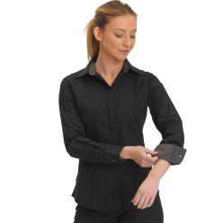 Joseph Alan Ladies Stretch Slim Fit Shirt with Grey Contrast