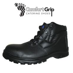Comfort Grip Black, Safety Chukka Boot