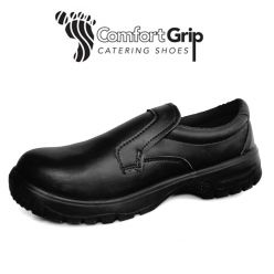 Comfort Grip Slip-On Shoes with Safety Toe Cap