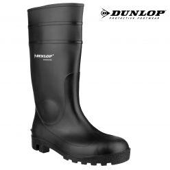 Dunlop Black Edmar Protomastor Wellington Boot CLEARANCE