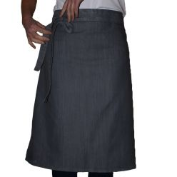 DP113D grey denim waist apron