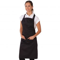 Dennys Black Low Cost Apron with Pocket