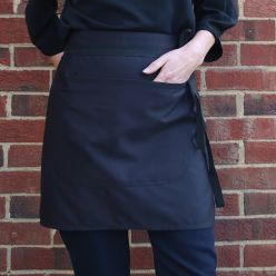 Dennys Black Low Cost Waist Apron