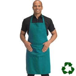 DP210 recycled polyester bib apron with pocket