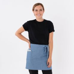 Dennys Cross Dyed Waist Apron With Side Pocket