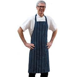 DP230AQ - woven butchers stripe bib apron