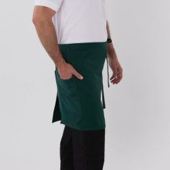 DP403 Bottle Green bistro apron with pocket model