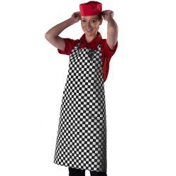 DP44 Black check apron