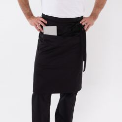 DP601C Black medium bistro apron