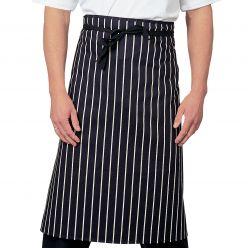 Dennys Classic Cotton Striped Waist Apron