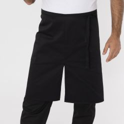 DP802- centre split short apron black