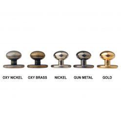 Metallic Chefs Stud Buttons x 12