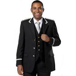 Joseph Alan Black Waistcoat with Gilt Buttons