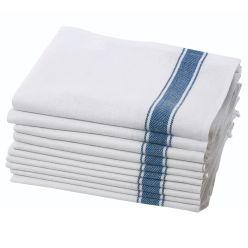 Dennys Blue Herringbone Kitchen Cloth