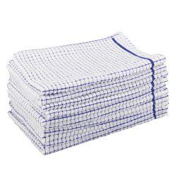 Dennys Check Terry Towelling Tea Towel