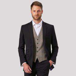 Brook Taverner Emilio waistcoat grey check