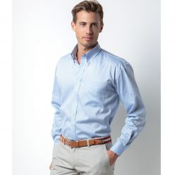 Kustom Kit Men's Oxford Long Sleeve Shirt