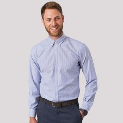 Lawrence Stretch Oxford Shirt - Brook taverner - Sky stripe