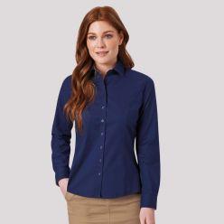 Mirabel Navy Stretch Oxford ladies shirt
