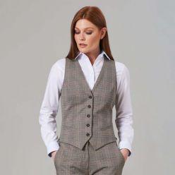 Brook taverner Olivia grey check waistcoat