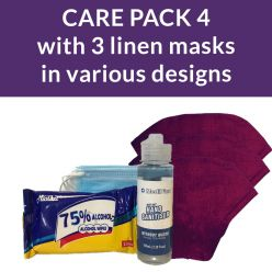 ppe care pack 4 - linen face masks