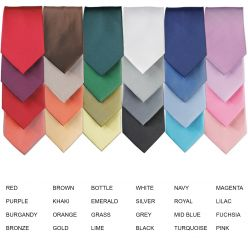 Premier Coloured Polyester Clip-On Ties