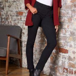 SD25 So Denim Ladies Lily skinny chino trousers - regular length - black
