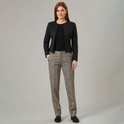 Stella trouser in grey check - casual