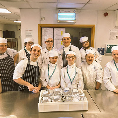 East Kent College - Training with Chef Gareth Oliver