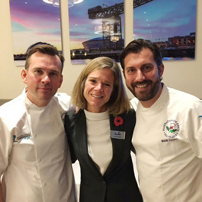 Paul Hawkins, Sally Russum and Mark Sargeant – Scottish Chefs Conference 2016