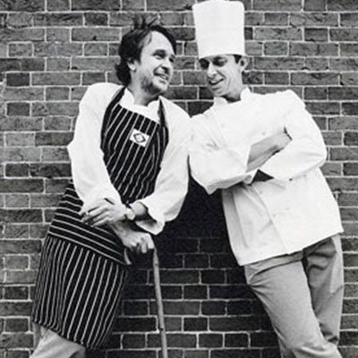 Chef Alistair Little and Chef Clive Fretwell