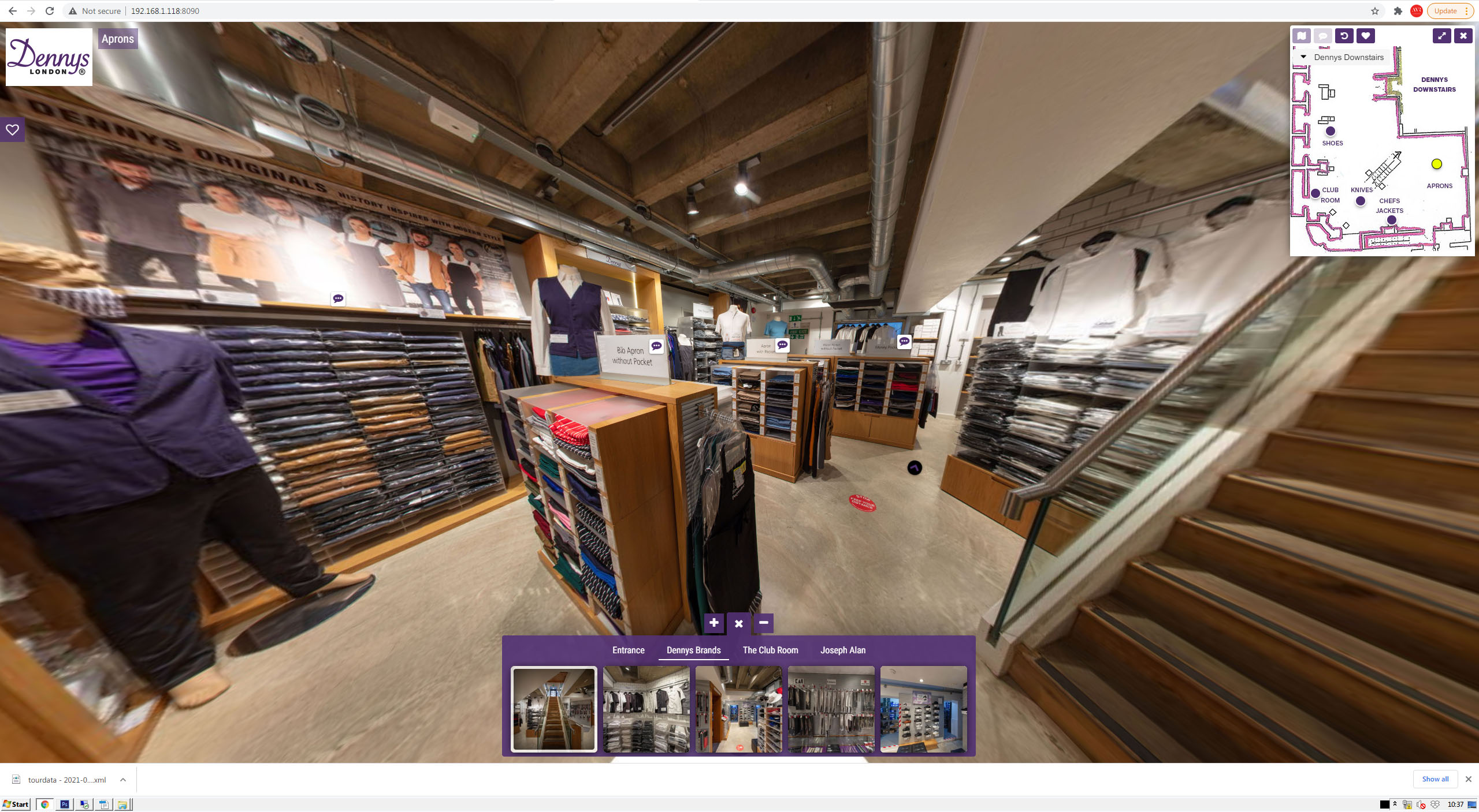 Dennys Brands Virtual Aprons