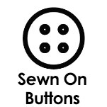 Sewn on buttons